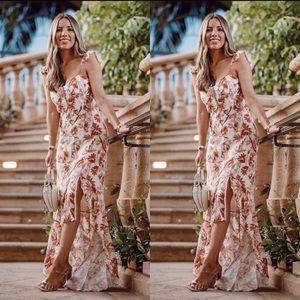 [WAYF] Etoile Bustier Ruffle Hem Dress